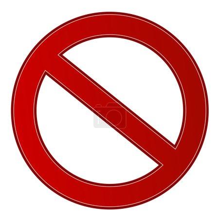 Prohibition sign...