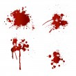 Blood splatters...