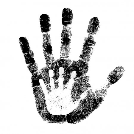Illustration for Adult and child hand print - Royalty Free Image
