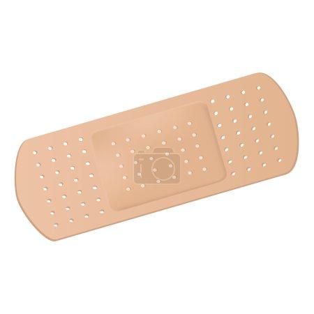 Illustration for Medical adhesive bandage - Royalty Free Image