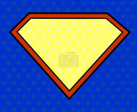 Illustration for Super hero shield in pop art style - Royalty Free Image