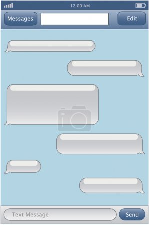 Illustration for Chat template - Royalty Free Image