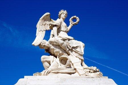 Photo pour Victoire contre son ennemi, le château de Versailles (17 e ) - image libre de droit