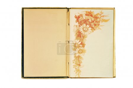 Notebook with floral pattern
