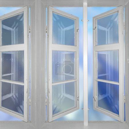 sky viewed through windows