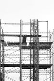 scaffolding on gray sky