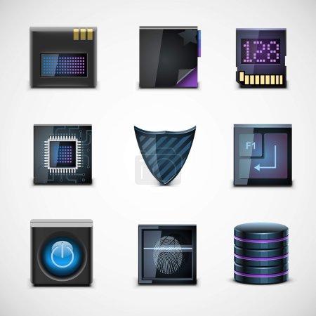 appareils électroniques vector icons
