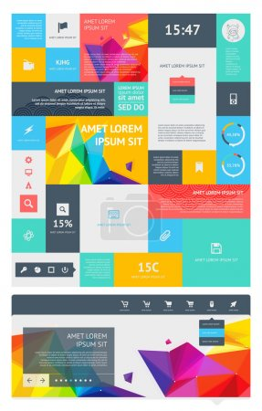 Photo for UI is a set of beautiful components featuring the flat design trend - Royalty Free Image