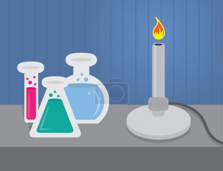 Chemistry set with beakers and test tubes...