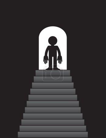 Steps up to Figure Doorway