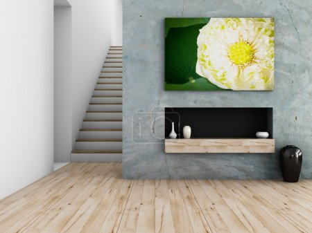 Photo for Interior design concept, 3d rendering - Royalty Free Image