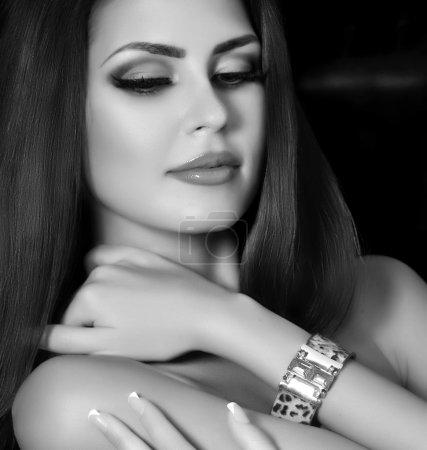 Woman with jewelry bracelet