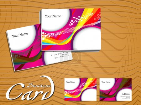 abstract colorful wave businees card