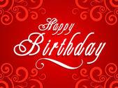 Abstract happy birthday card vector illustration