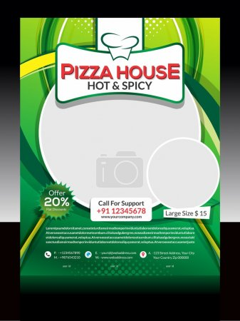 Illustration for Pizza Store Flyer Design Vector illustration - Royalty Free Image