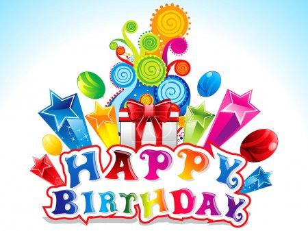 carte d'anniversaire joyeux coloré