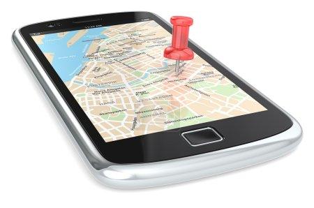 Navigation via Smart phone.