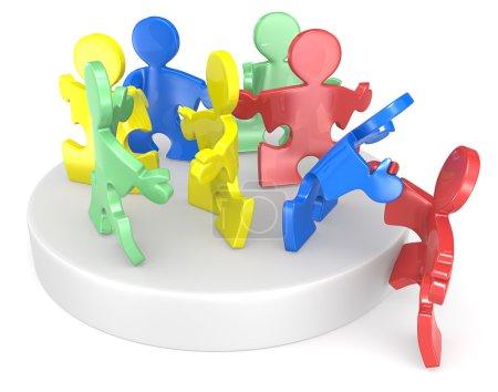 Photo pour Puzzle aide nouvelle à rejoindre. multi couleur. - image libre de droit
