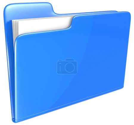 Photo for Open folder with papers. Blue. - Royalty Free Image