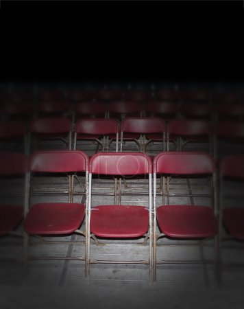 Empty Red Seating