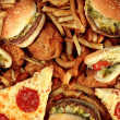 Fast food concept with greasy fried restaurant tak...