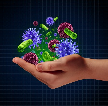Disease risk medical health care concept with a hu...