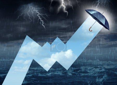 blau, himmel, hell, geschäft, finanziell, markt - B46956537