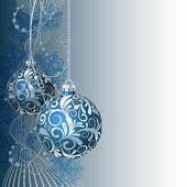 Blue Christmas card