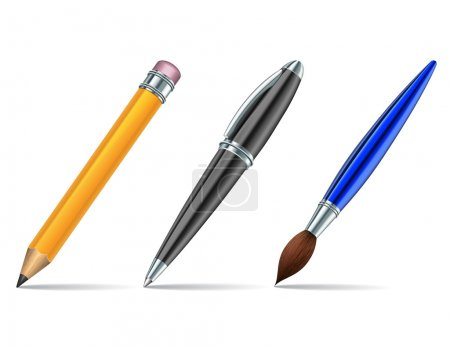 Pen tools isolated on the white background. Vector...