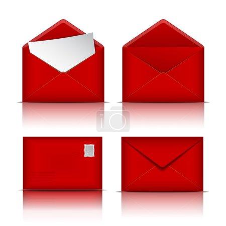 Set of Red envelopes.