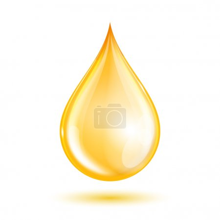 Drop of oil isolated on white background. Vector i...