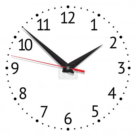 Illustration for Clock. vector illustration - Royalty Free Image