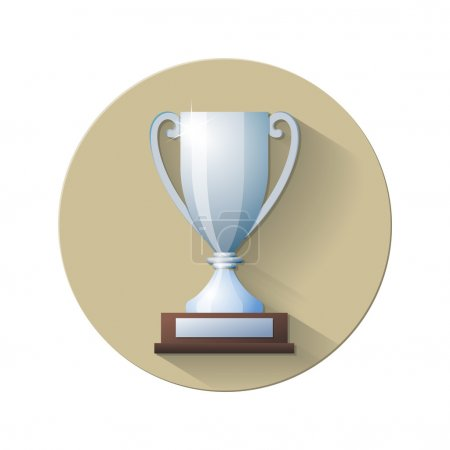Vector Silver Champions Cup Icon
