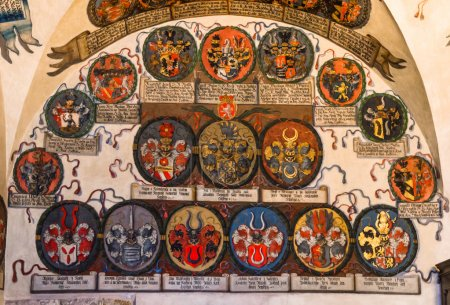 Prague Castle, Registry Office with czech heraldics.