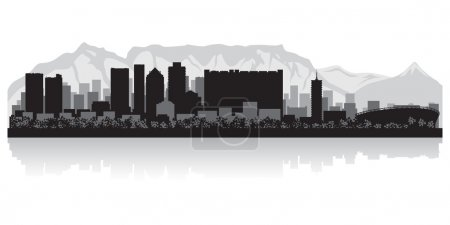 Cape Town city skyline vector silhouette