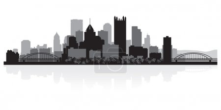 Pittsburgh city skyline silhouette