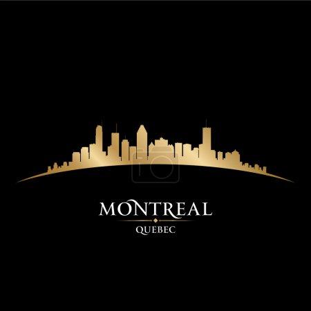 Montreal Quebec Canada city skyline silhouette black background