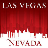 Las Vegas Nevada city skyline silhouette Vector illustration