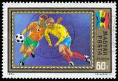 Maďarsko - cca 1972: známka vytištěna Maďarsko, ukazuje fotbal