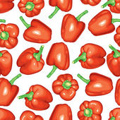 Red peppers pattern seamless