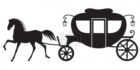 Carriage and horse
