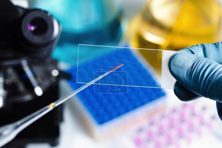 Scientific preparing the sample