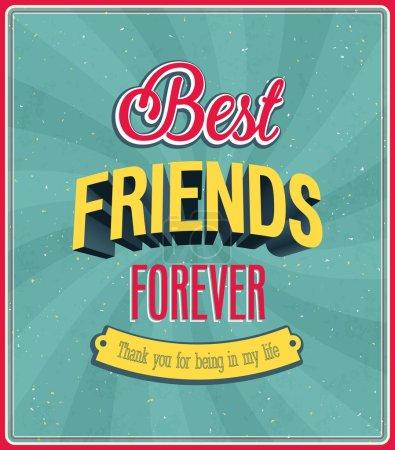 Best friends forever typographic design.