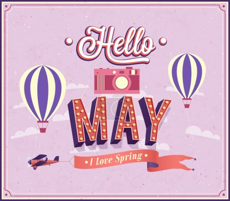 Hello may typographic design.