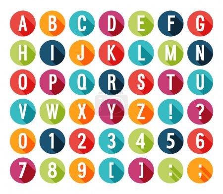 Illustration pour Alphabet plat icônes. illustration vectorielle. - image libre de droit