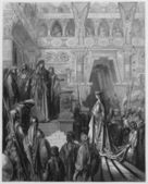 King Solomon received in the palace