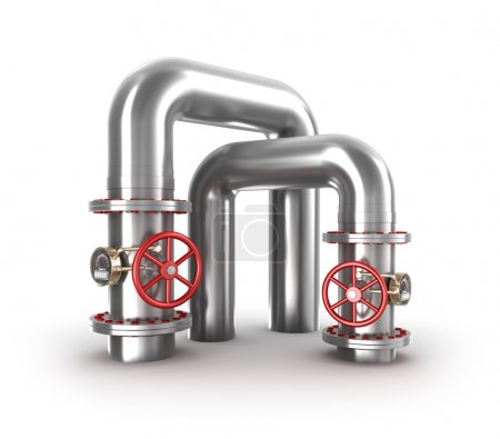 Industrial valves and pipes