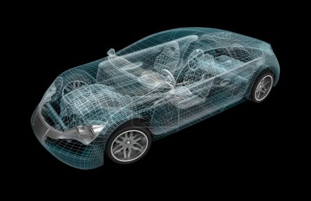 Photo for Car wireframe. My own design. - Royalty Free Image