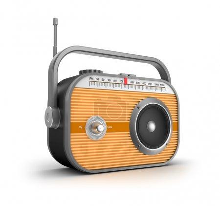 Photo for Retro radio concept. - Royalty Free Image