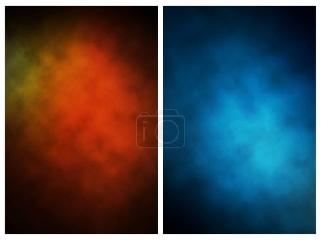 Abstract background blue and black...